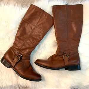 Clarks Womens Plaza Pug Boots 9.5 M Leather Riding